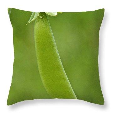 Pea Pod Throw Pillow by Sean Griffin