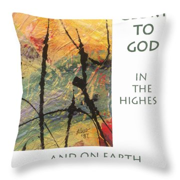 Peace And Goodwill Toward Men Throw Pillow by Angela L Walker