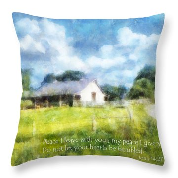 Peace Be With You Throw Pillow by Francesa Miller