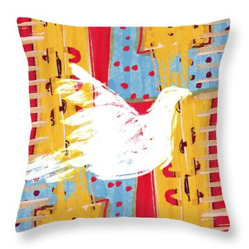 Peace Dove 2 Throw Pillow