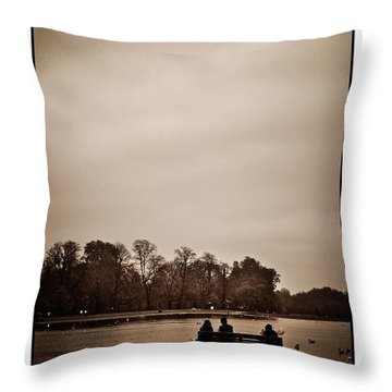 Throw Pillow featuring the photograph Peace by Lenny Carter