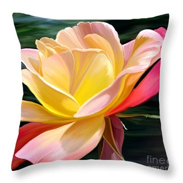 Peace Throw Pillow by Patricia Griffin Brett