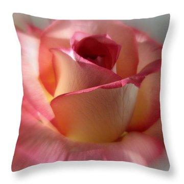 Peace Rose Throw Pillow by Ann Bridges