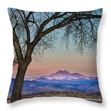 Peaceful Early Morning Sunrise Longs Peak View Throw Pillow by James BO  Insogna