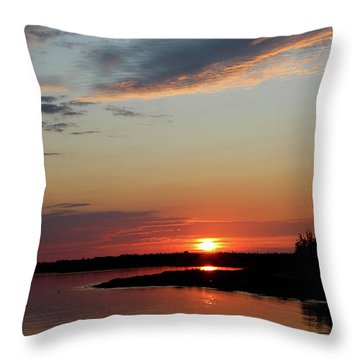 Throw Pillow featuring the photograph Peaceful Sunset by Rachel Cohen