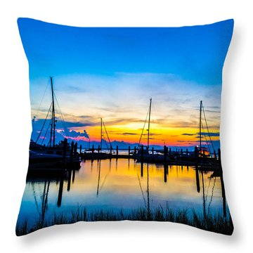 Peacefull Sunset Throw Pillow by Shannon Harrington