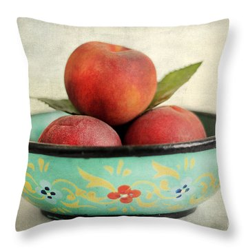 Peaches Throw Pillow by Darren Fisher