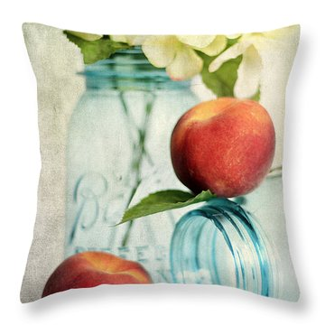 Peachy Throw Pillow by Darren Fisher