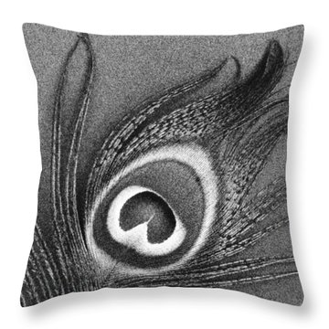 Peacock Feather Throw Pillow by Mark Greenberg