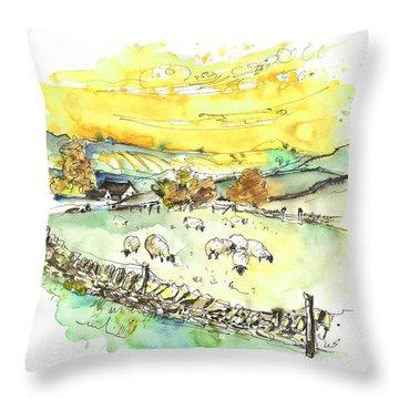 Peak District 06 Throw Pillow by Miki De Goodaboom