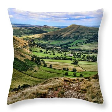 Peak District Throw Pillow by Isabella F Abbie Shores