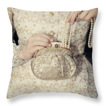 Pearls Throw Pillow by Joana Kruse