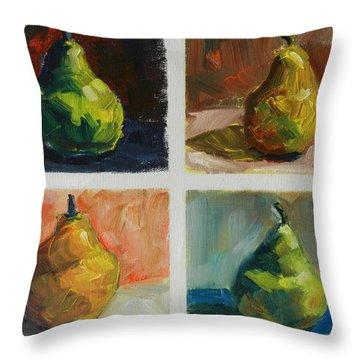 Pears,peru Impression Throw Pillow
