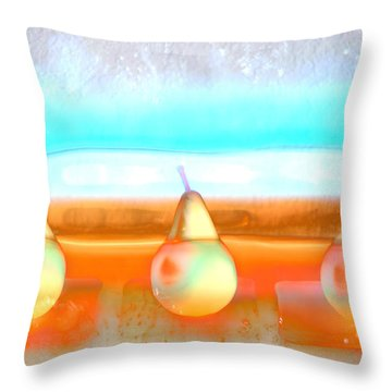 Pears On Ice 02 Throw Pillow