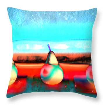 Pears On Ice 03 Throw Pillow
