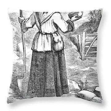 Peasants Wise Daughter Throw Pillow