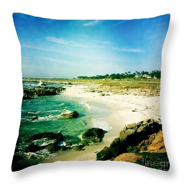 Throw Pillow featuring the photograph Pebble Beach by Nina Prommer