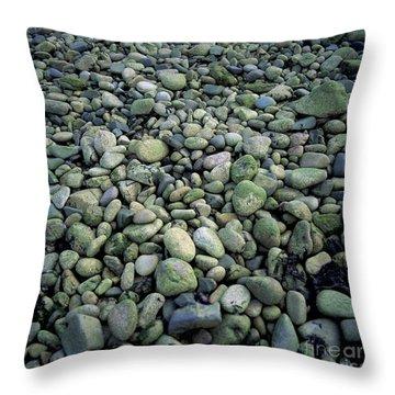Pebbles Throw Pillow by Bernard Jaubert