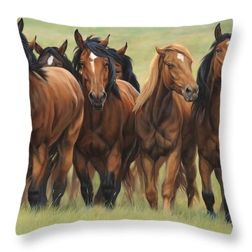 Pecking Order Throw Pillow by JQ Licensing