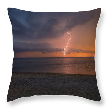 Peconic Bay Lightening Throw Pillow
