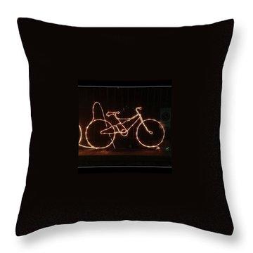 Cycling Throw Pillows