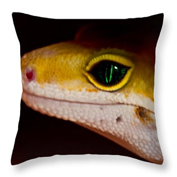Peeping Mike Throw Pillow