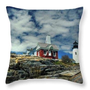 Pemaquid Lighthouse Throw Pillow by Alana Ranney