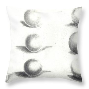 Pencil Shadows Throw Pillow