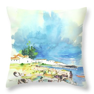 Peniche In Portugal 10 Throw Pillow by Miki De Goodaboom