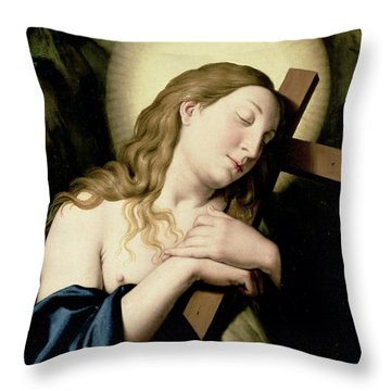 Penitent Magdalene Throw Pillow