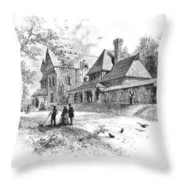 Pennsylvania: House, 1876 Throw Pillow by Granger