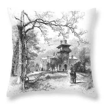Pennsylvania: Mansion Throw Pillow by Granger