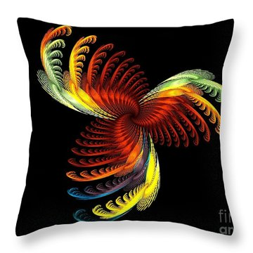 Pens Of Angels Throw Pillow by Klara Acel