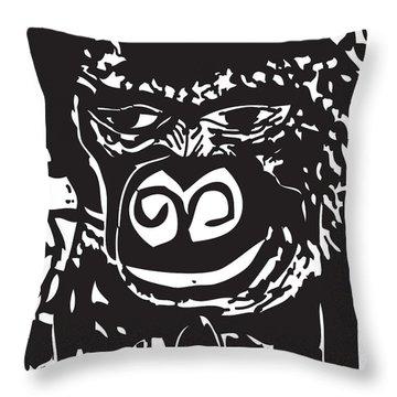 Pensive-gorilla Throw Pillow