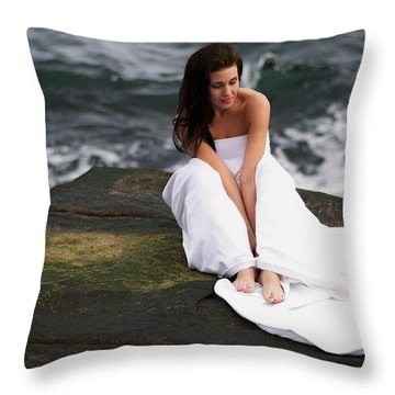 Pensive Throw Pillow by Rick Berk
