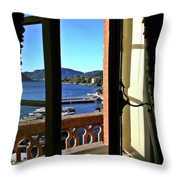 Villa D'este Window Throw Pillow