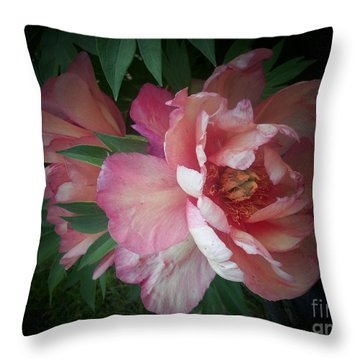 Peonies No. 8 Throw Pillow