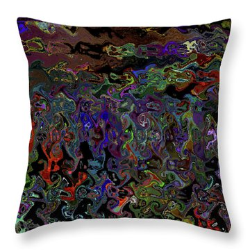People And Faces In Different Lovely Color Places  Throw Pillow