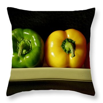 Pepper Delight Throw Pillow by Inspired Nature Photography Fine Art Photography
