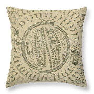 Pequot War Mystic Massacre 1637 Throw Pillow by Photo Researchers