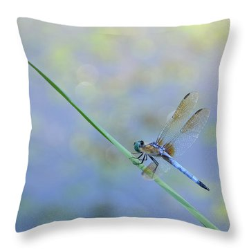 Throw Pillow featuring the photograph Perched Dragon by JD Grimes