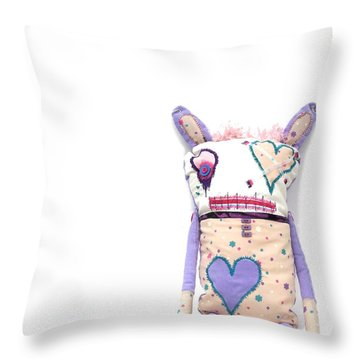 Percry Of The Cutie Patootie Zombie Bunny Twins Throw Pillow by Oddball Art Co by Lizzy Love