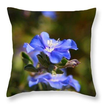 Perennial Blue Flower Throw Pillow