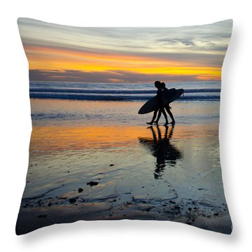 Perfect Day's End Throw Pillow by Athena Lin