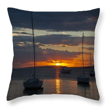 Perfect Ending In Puerto Rico Throw Pillow