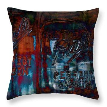 Perfect Mason Throw Pillow by Ron Jones