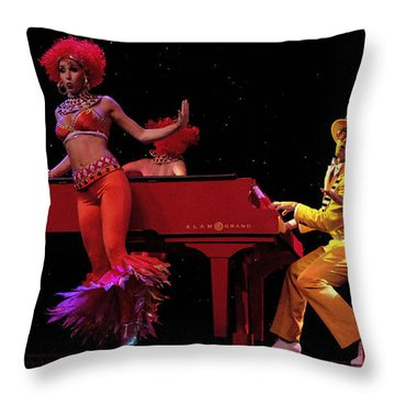 Performance 2 Throw Pillow by Bob Christopher
