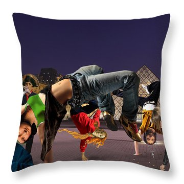 Performance Art Throw Pillow by Barry Kite