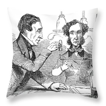 Performing The Marsh Test, 1856 Throw Pillow by Science Source