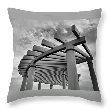 Throw Pillow featuring the photograph Pergola by Brian Hughes